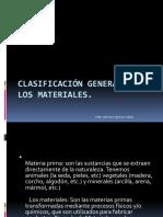 1. CLASIFICACIÓN GENERAL DE LOS MATERIALES