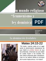 Señal Ecumenismo y Abominacion Desoladora