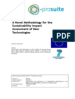 A novel methodology for the sustainability impact assesment of new tecgnologies