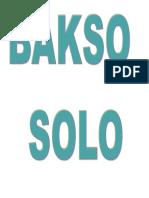 Bakso Solo