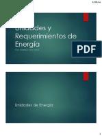 1. Unidades y Requerimientos de Energía