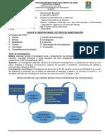 Guía N° 01 Identificando los tipos de investigacion