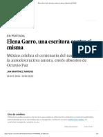 Elena Garro, Una Escritora Contra Sí Misma _ Babelia _ EL PAÍS