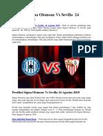 Prediksi Sigma Olomouc vs Sevilla 24 Agustus 2018
