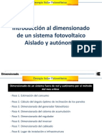 Dimensionado de Sistemas Fotovoltaica