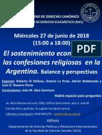 Encuentro IDEC. Sostenimiento Del Culto. 27 Junio 2018