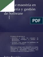 Tesis de Maestría en Ingeniería y Gestión de Softw