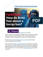 What do Brits think about banning the burqa.docx