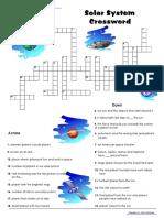Solarsystem Crossword