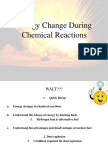 Energy Change During Chemical Reactions