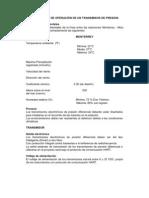CONDICIONES DE OPERACIÓN