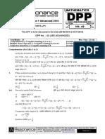 XII Maths DPP (18) - Prev Chaps