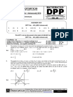 XI Maths DPP (20) - Prev Chaps