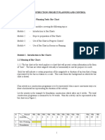 planning bar chart