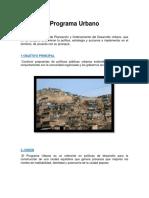 Programa Urbano