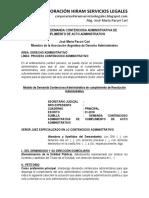 Modelo de Demanda Contenciosa Administrativa de Cumplimiento de Acto Administrativo -Autor José María Pacori Cari