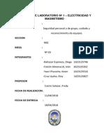 Practica de Laboratorio Nº 1 / Electricidad y Magnetismo / UNAC