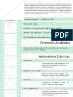 Curriculum Francisca Villarroel