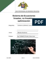 Ecuaciones Lineales y No Lineales
