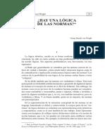 Logica de Las Normas_Georg Henrick