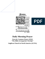 ACNA Morning Prayer Booklet