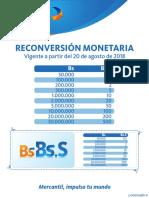 Tabla Reconversion