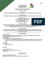 Syllabus Format Sample