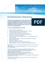 Barcelo Maya Beach Wedding Packages