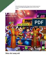 Situs Slot Uang Asli