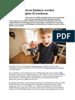 Aus Hyperaktiven Kindern Werden Vermehrt Adipöse Erwachsene