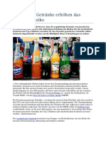Gezuckerte Getränke Erhöhen Das Diabetes