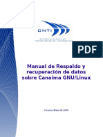 Manual de Respaldo y Recuperación de Datos Sobre Canaima GNU_Linux