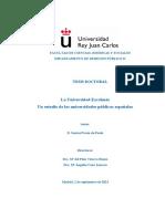 La Universidad Excelente Un estudio de las universidades públicas españolas