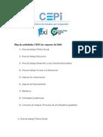 Plan de Actividades CEPI 1er Semestre de 2010