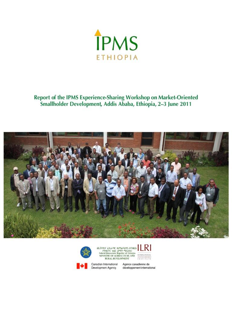 Ipms4gtp Report | Ethiopia | Agriculture