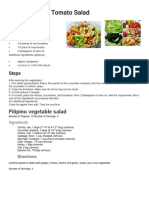Filipino Salad Recipe