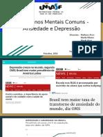 Slides Transtornos Mentais Comuns - Ansiedade e Depressão