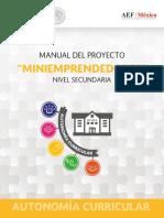 Miniemprendedores Secundaria, proyecto