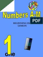Numbers - PPT - -Beginner