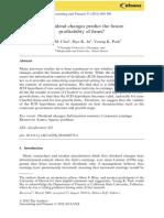 Do Dividend Changes Predict the Future Profitability
