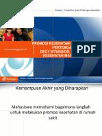 PPT UEU Dasar Dasar Promosi Kesehatan Pertemuan 13