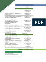 Cronograma Direito Empresarial