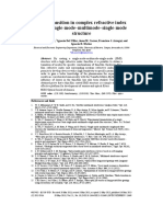 Mode Transition in Complex Refractive In