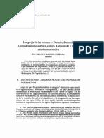 Massini Correas -Lenguaje de Las Normas y Derecho Natural