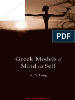 Long Greek Models of Mind and Self 2015