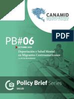 Deportación y salud mental de migrantes centroamericanos