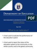 Performance Indicators Presentation