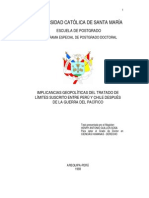 Tesis implicancias geopolíticas tratado Perú-Chile