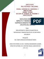 Geológia ambiental impacto y remediación en la empresa minera Peñasquito en Zacatecas, México.pdf