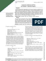 Loasaceas endémicas de Perú